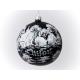 chata bombka dekorowana 120mm czarny mat