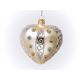 serce dekorowane kamieniami ozdobnymi ecrie