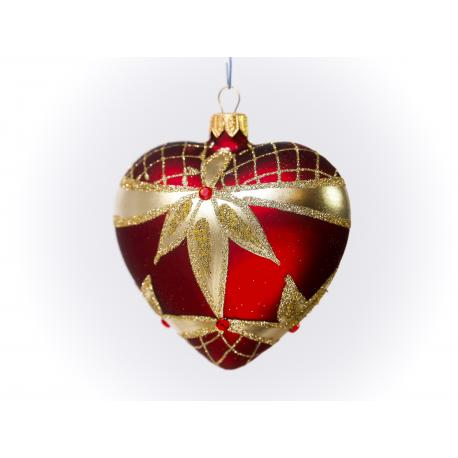serce dekorowane ostrokrzew