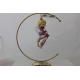 Aniołek z trąbką bombka szklana