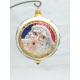 Mikołaj-medalion bombka szklana