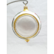 Mikołaj-medalion 1-stronny bombka szklana