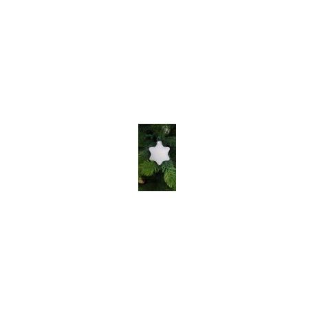 GWIAZDA bombka szklana 6cm brokat hologram