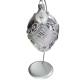 JAJO duże dekorowane kamieniami bombka szklana WZÓR 3