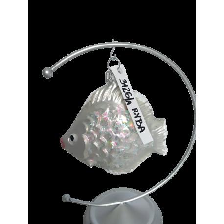 RYBA bombka szklana różne kolory luz