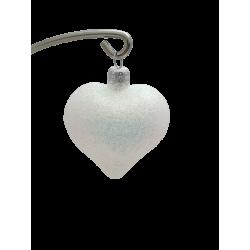 SERCE bombka szklana 6cm brokat hologram LUZ