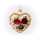 serce z różami piękny dekor