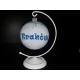 Bombka z imieniem 100mm okrągła szafirowa