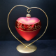 stojaczek do bombki 8cm w kształcie serca