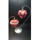 stojak podwójne serce na bombki 8cm 10cm oraz serca