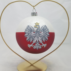 100LAT NIEPODLEGŁOSCI limitowana bombka 100mm z Orłem Białym - Godłem Polski
