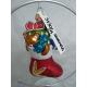 SKARPETA świąteczna bombka szklana