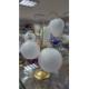 BOMBKA szklana 60mm brokat hologram luz