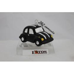 AUTO samochodzik czarny bombka szklana stojący oraz wiszący